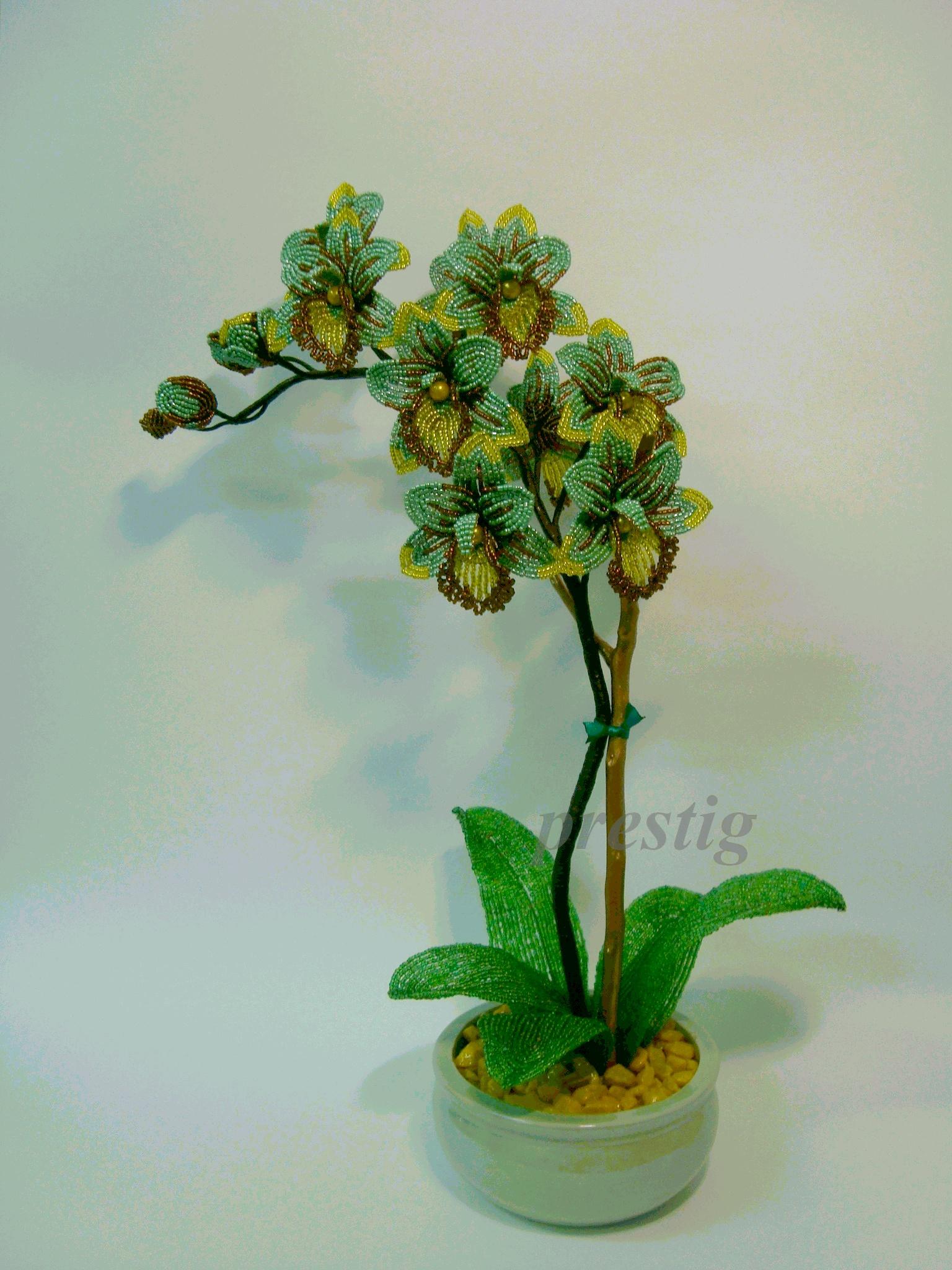 Категория цветы из бисера добавил