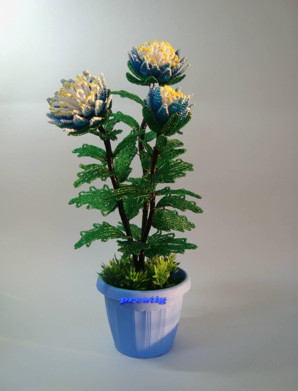 Хризантема своими руками из бисера схемы